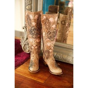 Gabbie boots in Taupe from Lane Boot Co.